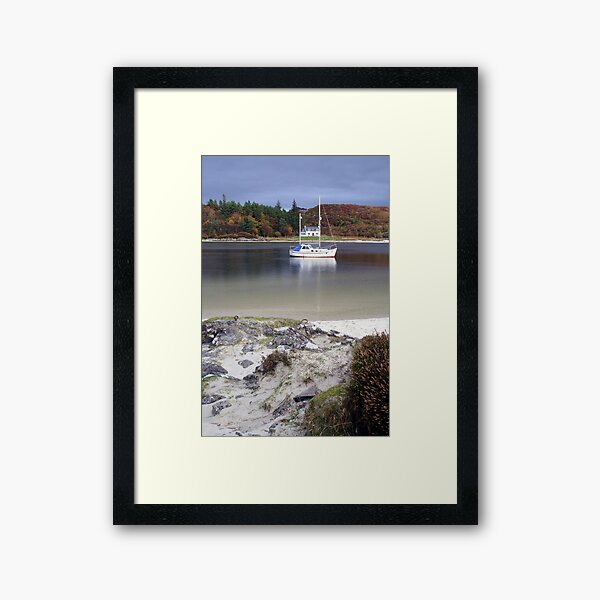 House  between the  masts Framed Art Print