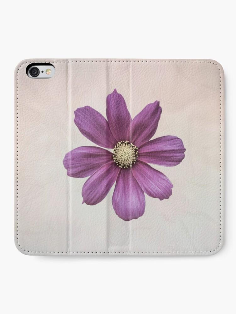 Alternate view of Purple Cosmos Flower iPhone Wallet