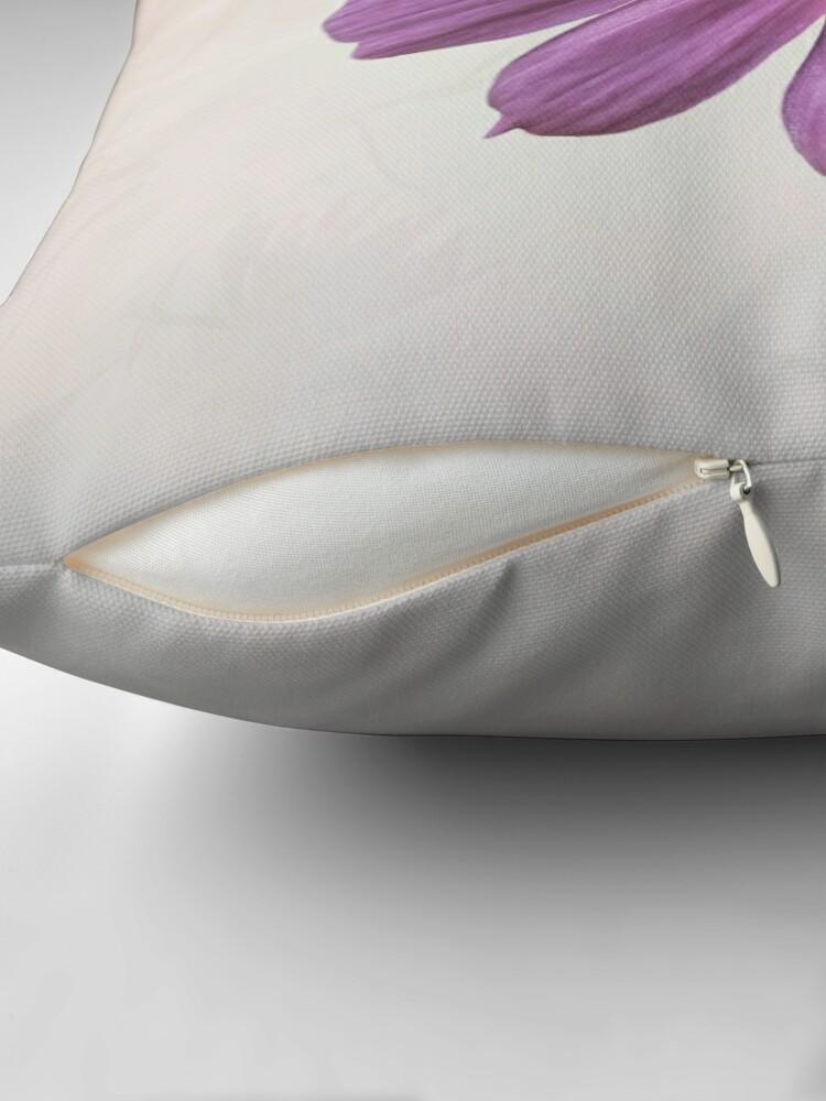 Alternate view of Purple Cosmos Flower Throw Pillow
