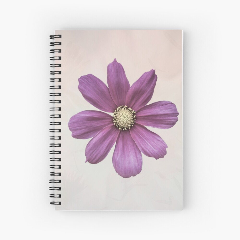 Purple Cosmos Flower Spiral Notebook