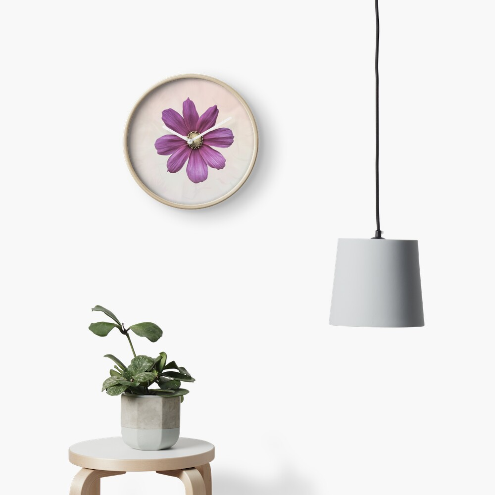 Purple Cosmos Flower Clock