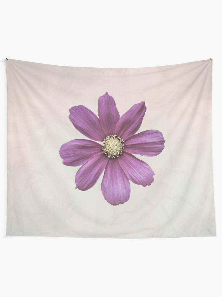 Alternate view of Purple Cosmos Flower Tapestry