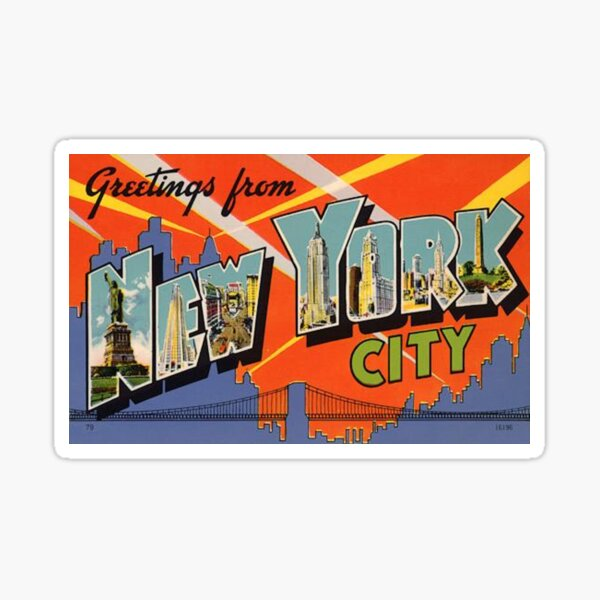 New York City Vintage Sticker