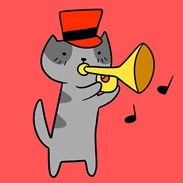 Trumpet Cat by SaradaBoru