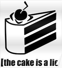 der Kuchen ist eine Lüge Poster