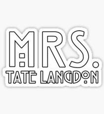 mrs. tate Sticker