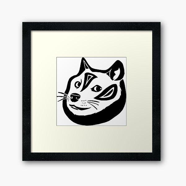 Tribalish Doge Framed Art Print