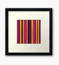 Gold Stripes Framed Print