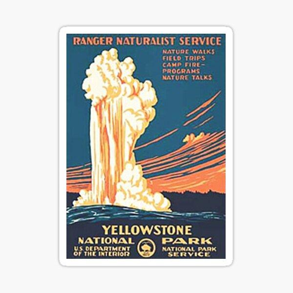 Yellowstone National Park Vintage Sticker