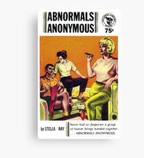 Abnormals Anonymous Pulp Novel Cover Canvas Print
