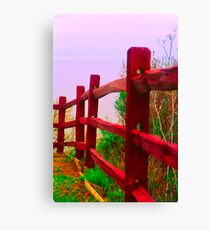Fence Against the Sky Canvas Print