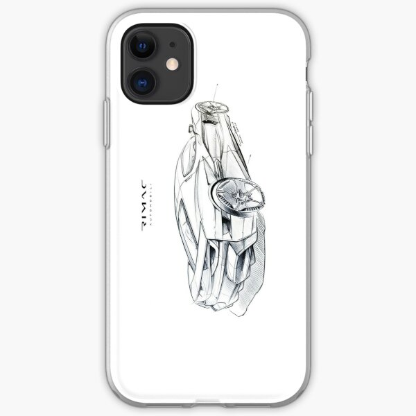 Rimac C_Two Sketch iPhone Soft Case