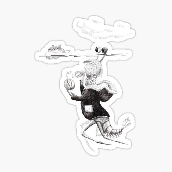 Ship Spotter- Geeky sea monster Sticker