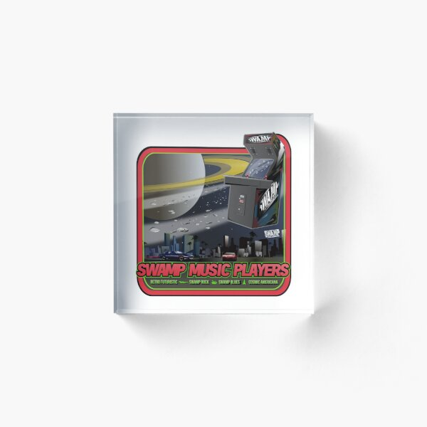 Swamp Music Players, star fighters arcade space saturn art Acrylic Block