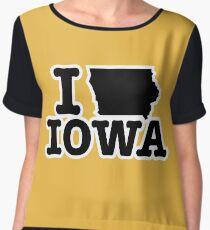 I Love Iowa Chiffon Top