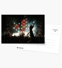 Rock Band Concert Postcards