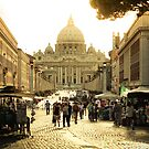 St. Peter's Basilica sunset by Brian Posslenzny