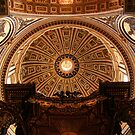 St. Peter's Basilica ceiling by Brian Posslenzny