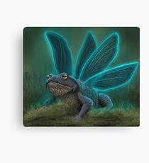 Flying Toad Canvas Print
