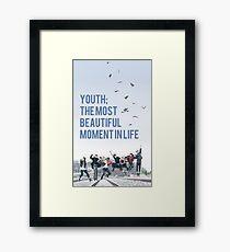 BTS hyyh Framed Print