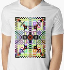 crazy pattern Men's V-Neck T-Shirt