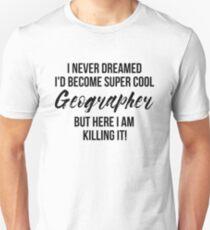 Super Cool Geographer Slim Fit T-Shirt