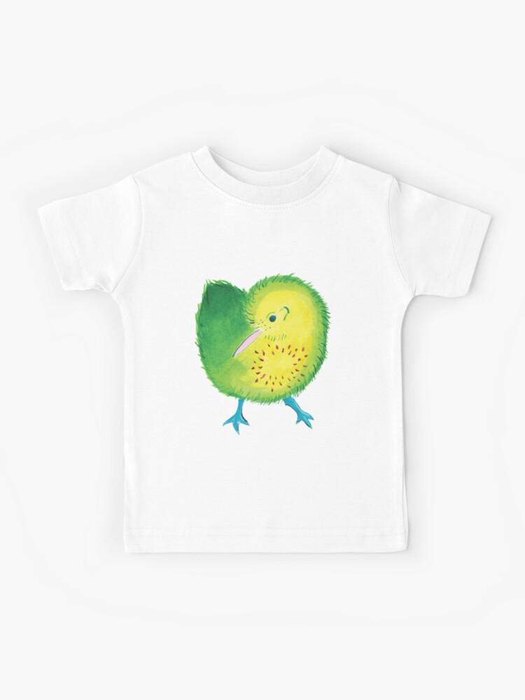 Kiwi Bird Kids Children Short Sleeve T-Shirt Tops