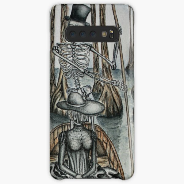 Swamp Music Players,The Ferryman & a black widow bayou gothic noir Baron Samedi, voodoo Samsung Galaxy Snap Case