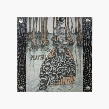 Swamp Music Players,The Ferryman & a black widow bayou gothic noir Baron Samedi, voodoo Art Board Print