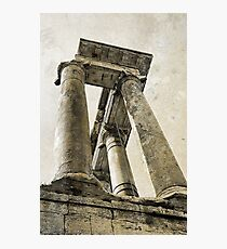 Temple of Saturn, Rome, Italy Photographic Print