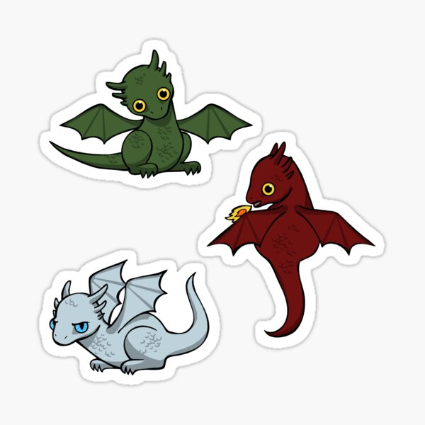 Game of Thrones Dragons Eis Sticker