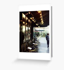 Paris Cafe Street Greeting Card
