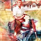 Swamp Music Players, timeless cool, Ariel Square Four motorcycle by swampmusicinfo