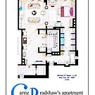 Carrie Bradshaws apartment as a Poster (Movie version) by Iñaki Aliste Lizarralde