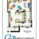 Carrie Bradshaws apartment as a Poster (TV version) by Iñaki Aliste Lizarralde