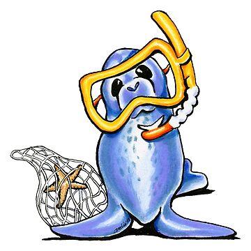 Snorkel Seal by offleashart