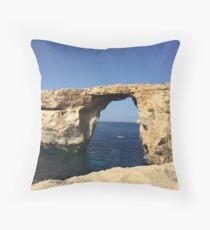 Azure Window, Malta Throw Pillow