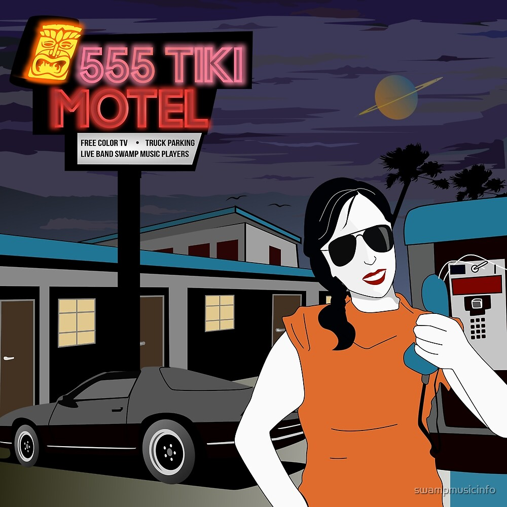 Swamp Music Players, 555 Tiki Motel payphones and Los Angeles motels, the terminator by swampmusicinfo