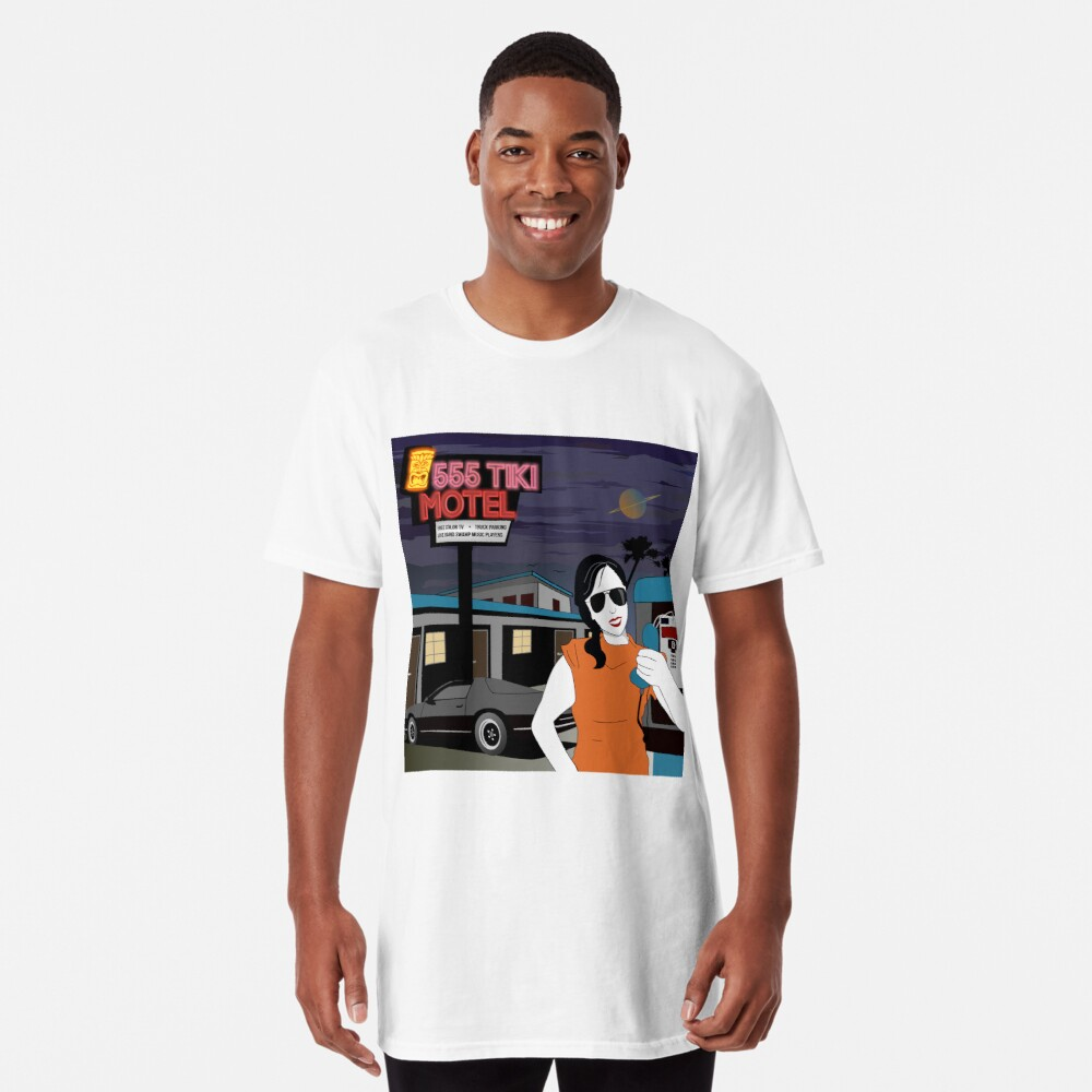 Swamp Music Players, 555 Tiki Motel payphones and Los Angeles motels, the terminator Long T-Shirt