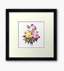 Multicoloured bouquet  Framed Print