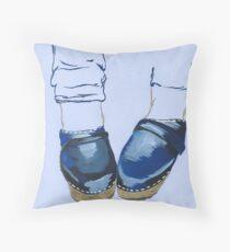 Swedish Clogs Throw Pillow
