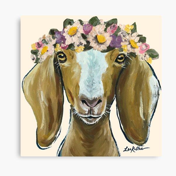 Colorful Goat Canvas Prints Redbubble