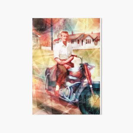 Swamp Music Players, timeless cool, Ariel Square Four motorcycle Art Board Print