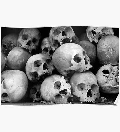 Victims of Pol Pot's Cambodian regime Poster