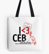 I ♥ Cebu - Airport Stamp Tote Bag