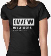 Omae wa mou shindeiru - Anime Tshirt for Otaku (Hokuto no ken) Women's Fitted T-Shirt