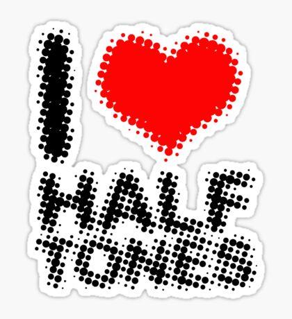Some halftone love Sticker