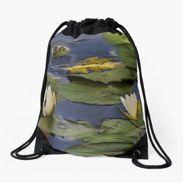 Hammond Pond - frog Drawstring Bag