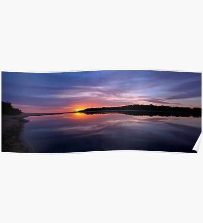 Lake Tyers Sunset Poster