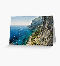 Capri Coastline Greeting Card